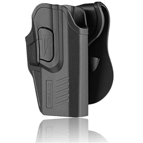 CYTAC Glock 19 Gen 5 Holsters, OWB Holster for Glock 19 19X 23 32 Gen 1 2 3 4, Tactical Outside The Waistband Polymer Paddle Holster -RH