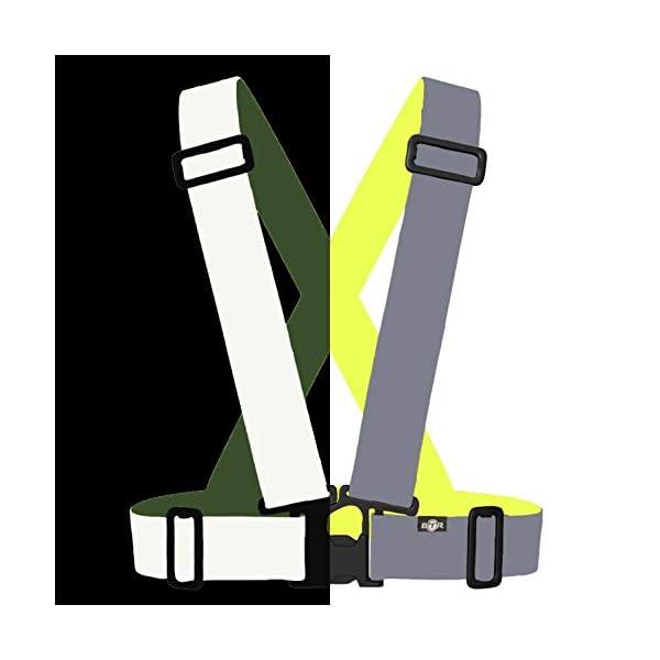 BTR Chaleco/Arnés/Babero Fácil Ajuste Fluorescente Y Reflectant