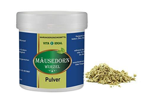 VITA IDEAL ® Stechender Mäusedorn Wurzel PULVER 300g (Ruscus aculeatus) + Messlöffel