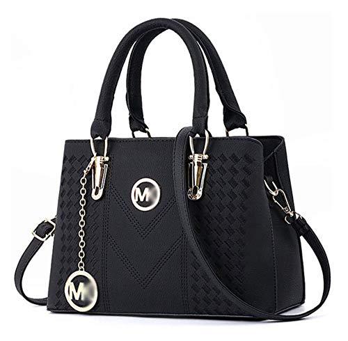Alidear Leder New Style Damenhandtaschen, Hobo-Taschen, Umhängetaschen, Tasche, Beuteltaschen, Trend-Taschen, Velours, Veloursleder, polarweißes Mikro-Wildleder Schwarz