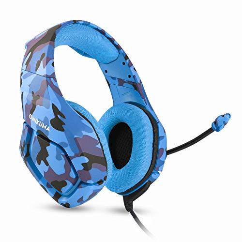 Auriculares para videojuegos con bobina Moving Coil ABS compatible con PS4 un micrófono cancelador de ruido compatible con PS4 / PC / ordenador / portátil / teléfono móvil / tablet
