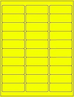 100 Sheets / 3000 Fluorescent FBA and Word Compatible Size Address Labels 30UP 2.625