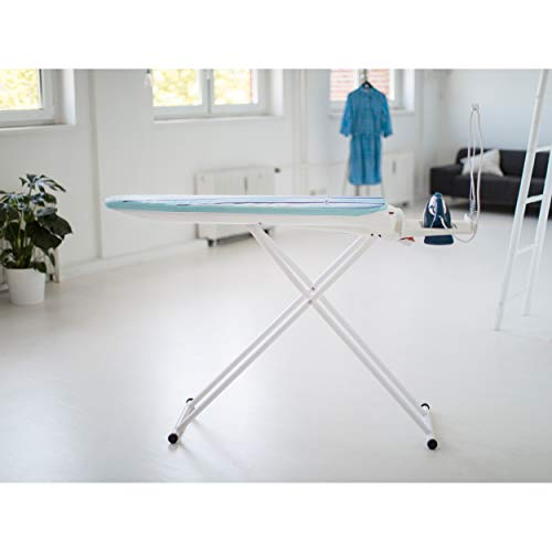 Leifheit, ironing board, Powder-coated steel/EPP/PVC, White, Medium