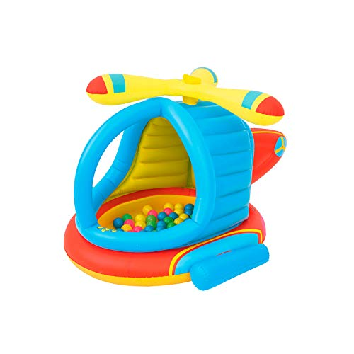 Bestway 52217 | Up In & Over - Piscina Gonfiabile Elicottero con 50 Palline Colorate Incluse, 140x127x89 cm