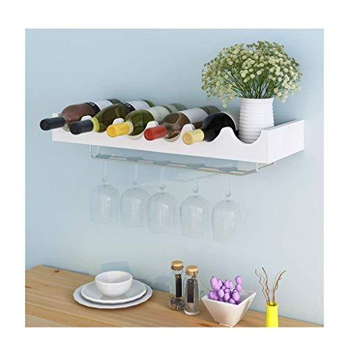 GCE Enfriador de Vino Simple Que cuelga el Estante de la Copa de Vino Tinto al revés Estante de Pared para Colgar en la Pared del hogar Estante de Vino Creativo (Color: Blanco)