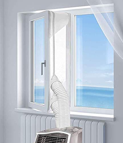 Mayepoo Fensterabdichtung für Mobile klimageräte 300cm Klimaanlage, Trocknern wasserdicht, Fenstern, Oberlichtern, Anti-Mücken-Eintritt Flügelfenstern fensterversiegelten Klimaanlagen 118,11 Zoll
