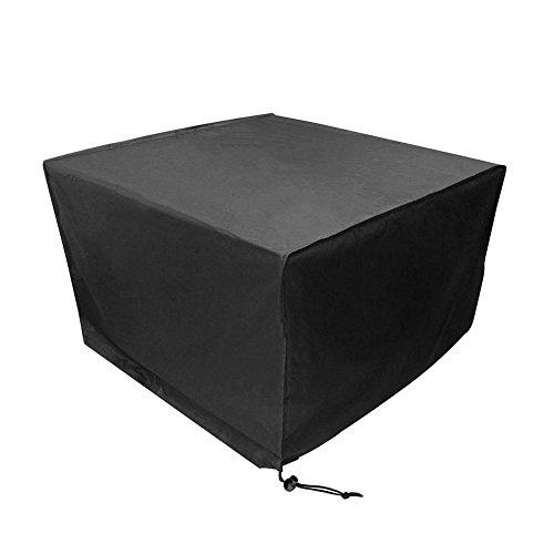 Anderlay Housse de Protection Bâche Housse Table de Jardin Imperméable Anti-poussière Antisolaire en Polyester Oxford pour des Meubles de Jardin Noir 135x135x74CM