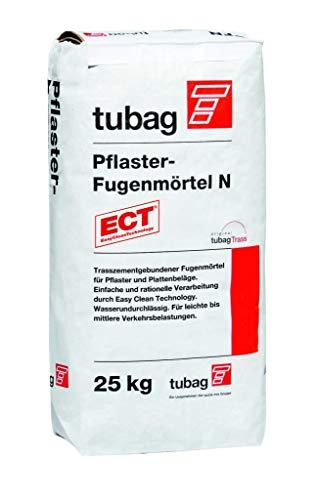 PFN Pflasterfugenmörtel N 25kg, tubag, Trasszement, hellgrau, Fugenmörtel für Außen und Innen, easy clean technology, einfache und rationelle Verarbeitung garantiert