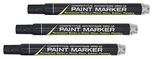 Competitive Advantage Enamel Paint Marker MPD-15 (Matte Black, 3)