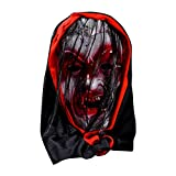 Shan-S Halloween Bloody Mask, Cosplay Scary Halloween Costume Party Props Adult Kids Bloody Zombie Horror Scary Red Spot Monster Mask for Bar Masquerade Performance Night Show Theme Carnival