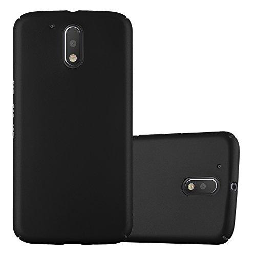 Cadorabo Hülle für Motorola Moto G4 / Moto G4 Plus in Metall SCHWARZ – Hardcase Handyhülle aus Plastik gegen Kratzer und Stöße – Schutzhülle Bumper Ultra Slim Back Case Hard Cover