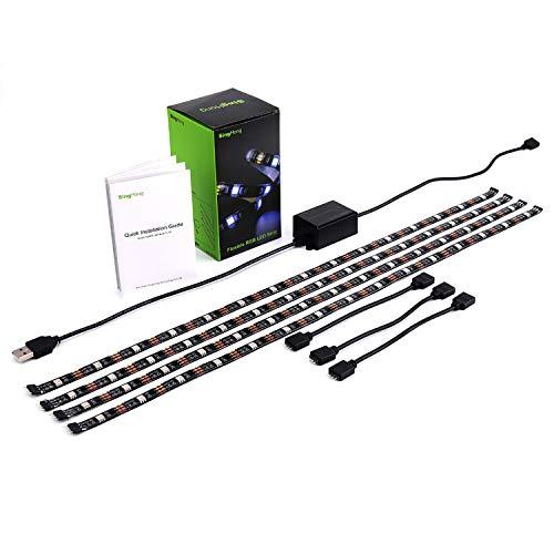 WiFi TV LED retroilluminazione striscia, compatibile con Google e ALEXA Home, alimentazione USB (5V DC), flessibile RGB 5050strisce, colour-changeable dimmerabile LED Strip (nuova versione)