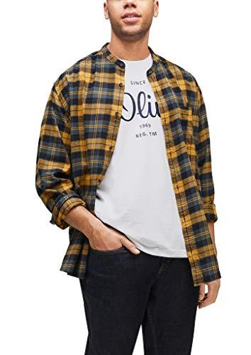 s.Oliver Big Size Herren Jerseyshirt mit Label-Print white 4XL