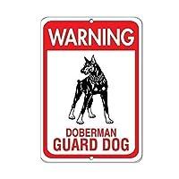 警告ドーベルマンガード犬ペット動物サインアルミ金属サイン