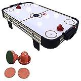 haxTON Mini Air Hockey Table Game, Tabletop Air-Powered Hockey Set for Kids with 4 Pucks, 2 Pushers,- Fun Arcade Games