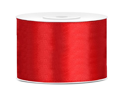 Satinband Dekoband 50 mm breit (rot) Hochzeit Schleifen bilden Geschenke verschönern