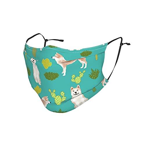 best& Akita Kaktus Bandana Gesichtsmaske UV-Schutz Sturmhaube Halstücher Staubabweisend Herren Damen Face Cover Schal