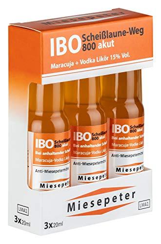 Miesepeter Likör Minis - IBO Scheißlaune-Weg 800 akut (Maracuja + Vodka, 3 x 20ml), 1 Pack