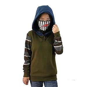 Uyecos Cosplay Creepy Ticci Toby Womens Hoodie Pullover Thicken Sweatshirt