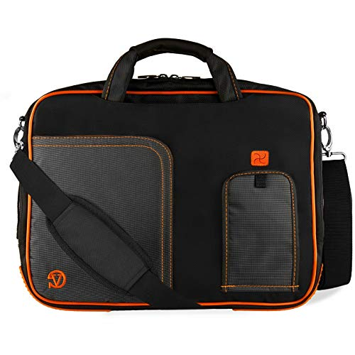 Shoulder Laptop Messenger Bag Carrying Briefcase 13.3'-14' Compatible with Samsung Notebook 9/Dell Latitude 7480/Lenovo ThinkPad X1 Yoga/T470/IdeaPad 100S-14/Asus VivoBook E403NA(Orange)