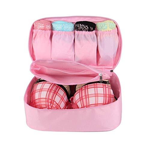 YuuHeeER Organizador multifuncional de viaje organizador de moda, portátil, color rosa