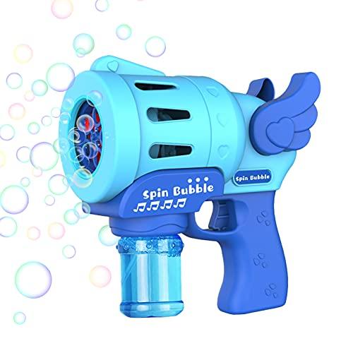 夏の煙のマジックバブル機械電気自動バブル機械製造ガン漏れのない電池式の楽しさと安全 (Color : Without water)