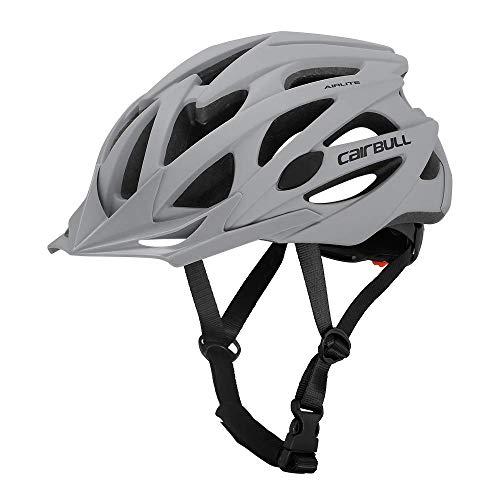 Cairbull AIRLITE casco da bici da uomo e da donna MTB casco da sport ricreativo con rete per insetti, casco da bici da corsa a tesa lunga - taglia M L 2 (Grigio, L)