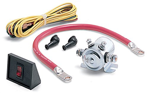 WARN 62132 Power Interrupt Kit with Battery Lead, Hardware, Solenoid, Switch and Wiring