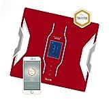 Tanita RD-953 Bluetooth 4 Low Energy Körperanalyse-Waage mit medizinischer Technologie, Rot