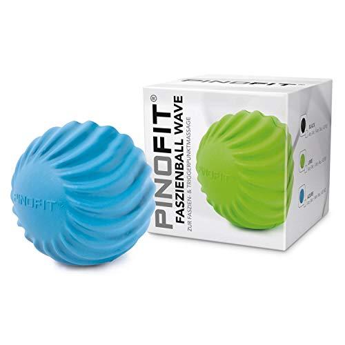 PINOFIT Faszienball Wave – zur Selbstmassage und Behandlung des Bindegewebes – verschiedene Trendfarben (Blau)