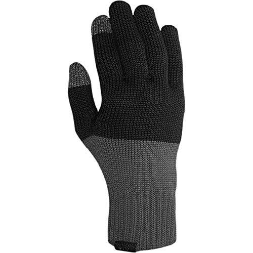 Giro Unisex - Adultos Wi Merino Knit Wool Guantes de Bicicleta, Gris/Negro, L/XL