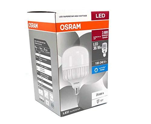 Foco led osram alta potencia 36w 3800 lumenes e27 luz fria blanca ideal exteriores hogar terraza patio larga duración