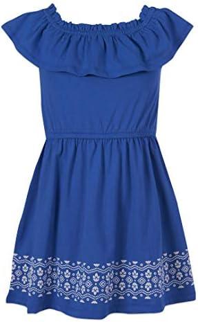 Nautica Girls Off Shoulder Fashion Dress Border Sea Blue M8 10 product image