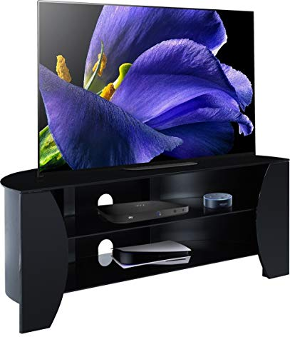 Centurion Support TIVOLI - Mobile TV a schermo piatto con 3 ripiani, fino a 50', colore: Nero lucido