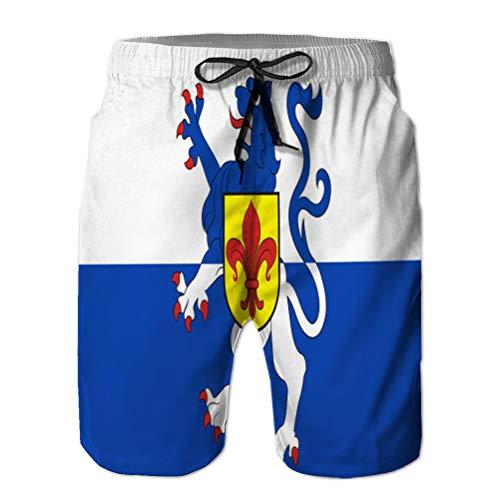 Youth Boys 'Shorts Summer Beach Shorts Pantalones Casuales Flag of Sankt Wendel en Saarland en Alemania
