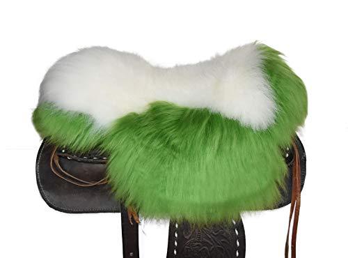 Moro-Design Lammfell Sattelbezug für Westernsattel Lammfellbezug Sattelauflage mit Horn Saddle Pad Seat Saver
