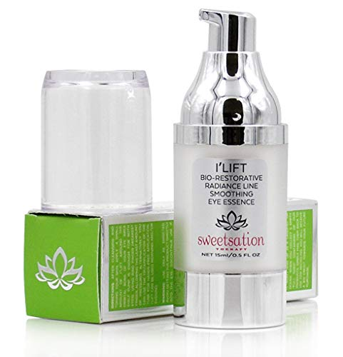 Sweetsation Therapy ILift Bio-Restorative Line Smoothing Anti-Aging Eye Cream with Retinol, Peptides, Argireline, Matrixyl, Vitamin C, Ceramide & Caffeine, 0.5oz For Lines, Wrinkles, Dark Circles.
