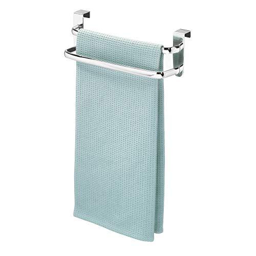 iDesign Axis Handtuchhalter, doppelte Handtuchstange aus Metall, silberfarben