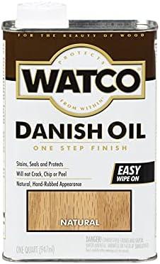Watco A65741 1 trend rank Quart Natural Finish security Oil Danish