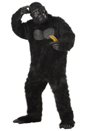 Plus Size Realistic Gorilla Suit Costume Plus Black