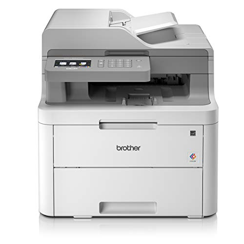 Brother DCPL3550CDWYY1 Stampante Multifunzione a Colori LED, 18 ppm, Wi-Fi, Ethernet, USB 2.0 Hi-Speed, ADF da 50 Fogli, Stampa Fronte-Retro, Display Touchscreen, Toner da 1.000 Pagine per Colore
