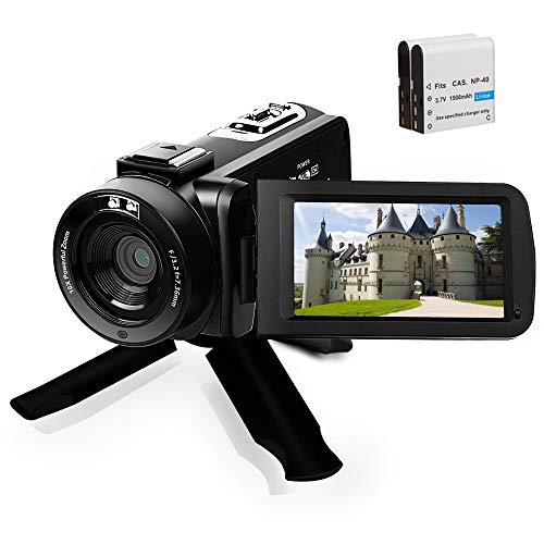 Full HD1080P Video CameraCamcorder 16X Digital Zoom YouTube Camera 3.0'' Touch Screen...