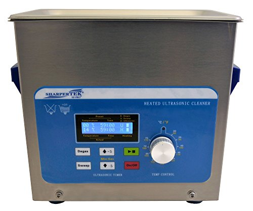 SharperTek XPS120-3L Heated Ultrasonic Cleaner, 3/4 gal Tank Capacity, 100/120V, 50/60Hz, 750W, 10' L x 6' W x 9.5' H, 9.5' Height, 6' Width, 10' Length