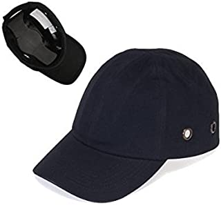 Black Baseball Bump Cap - Lightweight Safety Hard hat Head Protection Cap
