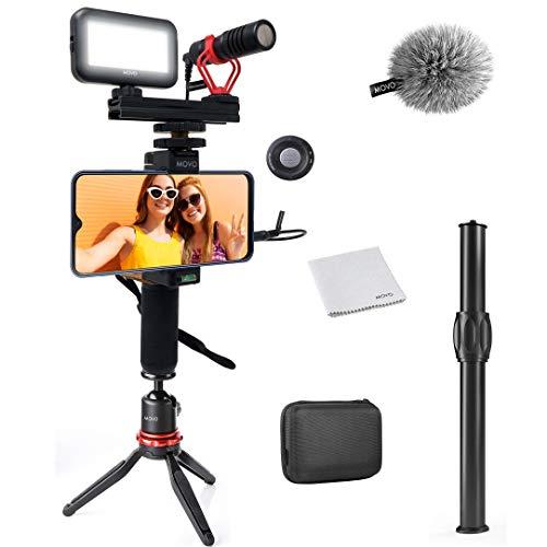 Movo Smartphone Video Kit V1+ Vlogging Kit with Tripod, Grip, Shotgun...