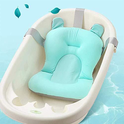 Cojín de baño para bebé recién nacido, antideslizante, soporte para asiento de baño, bañera para bebé, plegable, colchón de baño flotante, cojín de bañera para recién nacido de 0 a 12 meses