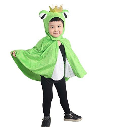 Froschkönig-Kostüm, An80, als Umhang für Klein-Kinder, Babies, Frosch-König Kostüme Fasching Karneval, Kleinkinder-Karnevalskostüme, Kinder-Faschingskostüme, Märchen-Kostüm