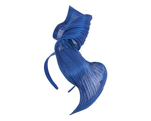Fillies Collection Large Royal Blue Bespoke Jinsin Racing Fascinator by