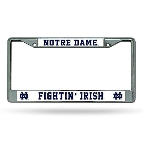 NCAA Rico Industries Standard Chrome License Plate Frame, Notre Dame Fighting Irish