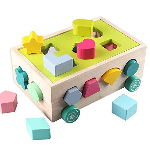 SY-Home Forme en Bois Sorter Toy, Couleur Reconnaissance de Forme d'éducation préscolaire Tout-Petits Jouets pour Les Enfants 1,2,3,4,5 Ans Garçons et Grils Cadeau